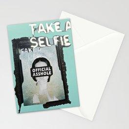 HEWGE TAKE A SELFIE FAKE A LIFE OA WITH BORDER Stationery Cards