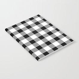 Buffalo Check - black / white Notebook