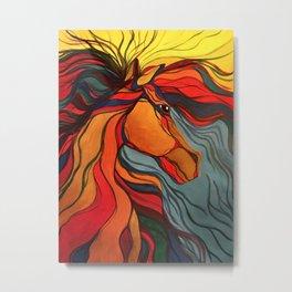 Wild Horse Breaking Free Southwestern Style Metal Print