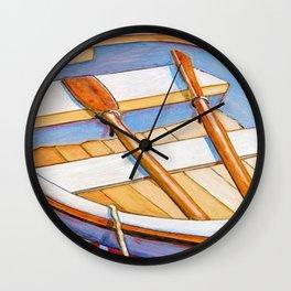 Row Boat Too Wall Clock