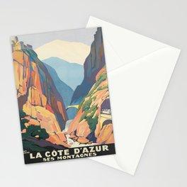 Werbeplakat la côte dazur ses montagnes. circa 1930 Stationery Cards