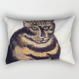Henri Russeau, Tabby 1963, Naive Cat Artwork for Wall Art, Prints, Posters, Tshirts, Men, Women, You Rectangular Pillow