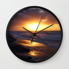 Sunrise Over Atlantic Ocean Wall Clock