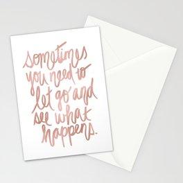 Let Go - Rose Gold Stationery Cards