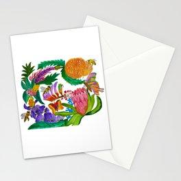 Australian native flowers wreath Stationery Cards