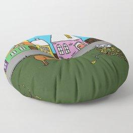 Sausage Town Floor Pillow