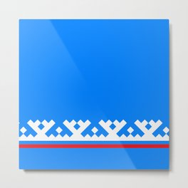 flag of Yamalo-Nenets Okrug Or Yanao Metal Print