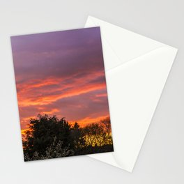 Sunset Over The Park Stationery Cards