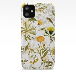 Vintage & Shabby Chic - Yellow Wildflowers iPhone Case