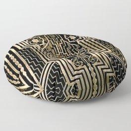 Art Nouveau Metallic design Floor Pillow