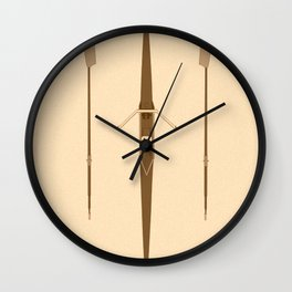 rowing single scull Wall Clock