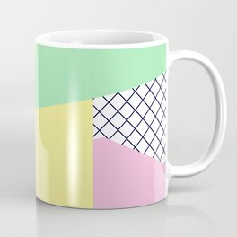 Pastels & Netting - Abstract Art Coffee Mug