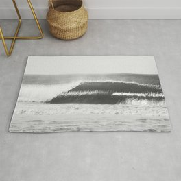 Black and White Wave Rug