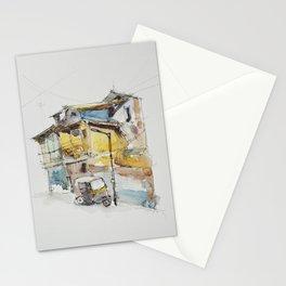 Rickshaw at the lamppost  Stationery Cards