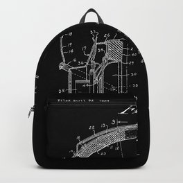 Headphones Patent - White on Black Backpack
