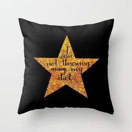 Not Throwing Away My Shot Throw Pillow