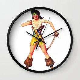 1920s Flapper Pirate Wall Clock