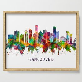 Vancouver Canada Skyline Serving Tray