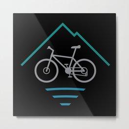 Trail Bike Cycling Logo Metal Print
