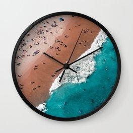 Surfers Surfing Bondi Beach Wall Clock