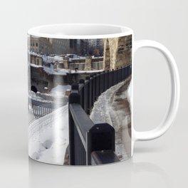Minneapolis, Minnesota Skyline at the Stone Arch Bridge Coffee Mug