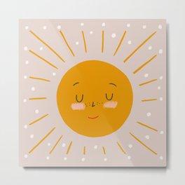 Cute Sun Metal Print