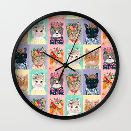 Cat land Wall Clock