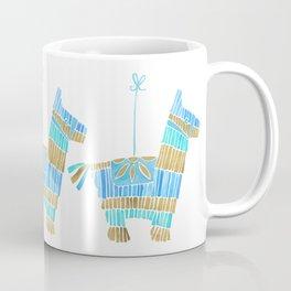 Mexican Donkey Piñata – Blue & Gold Palette Coffee Mug