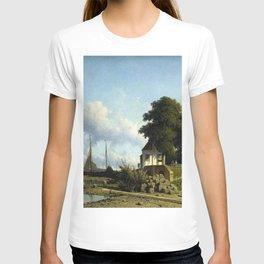 At Elshout Sun 1854 By Johan Hendrik Weissenbruch | Reproduction T-shirt