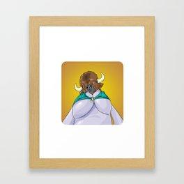 Mrs. Bison Framed Art Print