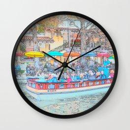 Ride Down The River - San Antonio, Texas Wall Clock