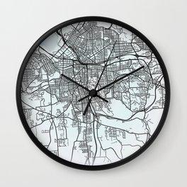 Syracuse, NY, USA, White, City, Map Wall Clock