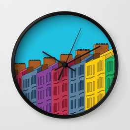 Tenement Row Wall Clock