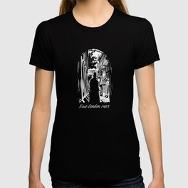 Jack the ripper east london 1855 black and white T-shirt