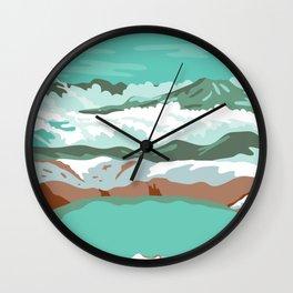Katmai National Park and Preserve at Summit Crater Lake of Mount Katmai Alaska United States WPA Poster Art Color Wall Clock