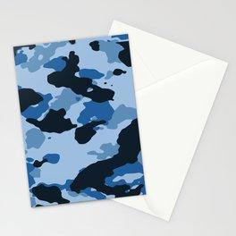 Light Blue Camo Stationery Cards