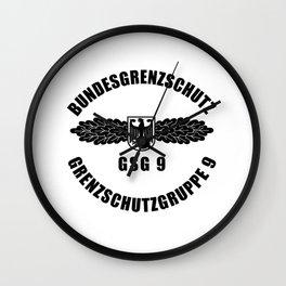 Bundesgrenzschutz t-shirt BGS police gift idea Wall Clock