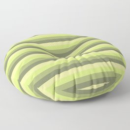 green pattern horizontal stripes buntes Muster motivo verde Floor Pillow