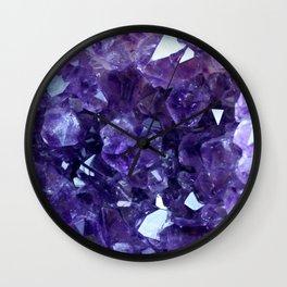 Raw Amethyst - Crystal Cluster Wall Clock