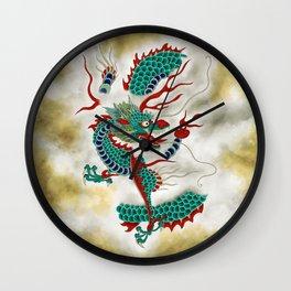 Dragon in the Cloud Type F: Minhwa-Korean traditional/folk art Wall Clock