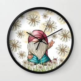 Hippie Gnome Wall Clock
