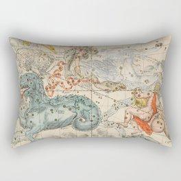 Vintage Celestial & Astrological Map  (1693) Rectangular Pillow