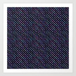 Retro Colored Dots Material Art Print