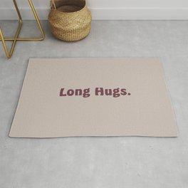 Long Hugs in Mauve, Bordeaux/Magenta/Purple Rug