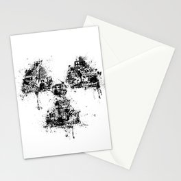 Radioactivity Symbol Stationery Cards