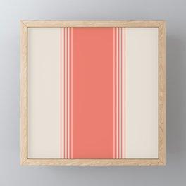 Coral Red Vertical Gradient Framed Mini Art Print