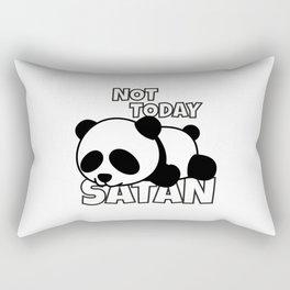 Not Today Satan Panda Bear Rectangular Pillow