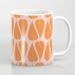 Zen Leaves Pink Ocher Coffee Mug