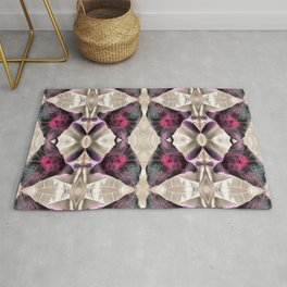Space Flower Abstract Floral Pattern. Rug