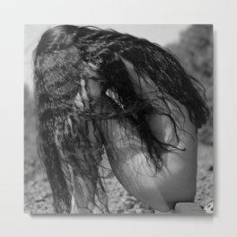 A Million Little Pieces, female brunette nude black and white photograph / black and white photography Metal Print